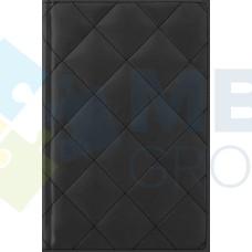 """Ежедневник недатированный Cabinet """"Square"""", А5, 320 л., искусственная кожа, с металлической закладкой и карманом, черный"""