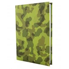 Ежедневник недатированный Economix MILITARY, А5, 320 л., балакрон, зеленый