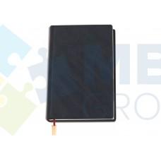 """Ежедневник недатированный Cabinet """"Diagonal"""", А5, 320 л., искусственная кожа, с металлической закладкой и карманом, черный"""