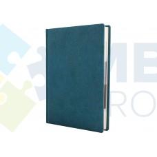 Ежедневник недатированный Cabinet ARMONIA, А5, 320 л., искусственная кожа, бирюзовый