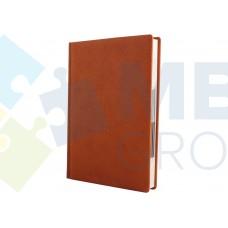 Ежедневник недатированный Cabinet ARMONIA, А5, 320 л., искусственная кожа, коричневый