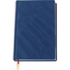 """Ежедневник недатированный Cabinet """"Diagonal"""", А5, 320 л., искусственная кожа, с металлической закладкой и карманом, синий"""