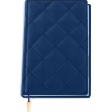 """Ежедневник недатированный Cabinet """"Square"""", А5, 320 л., искусственная кожа, с металлической закладкой и карманом, синий"""