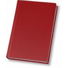 Ежедневник недатированный Cabinet Napa, А5, 320 л., натуральная кожа, красный