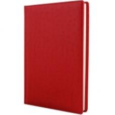 Ежедневник недатированный Cabinet Ostrich, А5, 320 л., искусственная кожа, красный