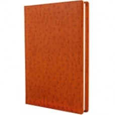Ежедневник недатированный Cabinet Ostrich, А5, 320 л., искусственная кожа, коричневый
