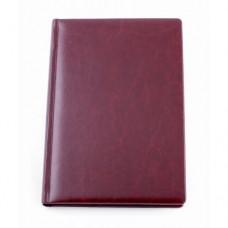 Ежедневник полудатированный Optima Nebraska, А5, 384 л., искусственная кожа, бордовый