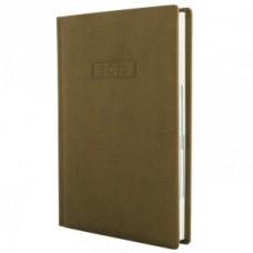 Ежедневник полудатированный Optima GLEN, А5, 384 л., искусственная кожа, коричневый