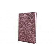 Ежедневник полудатированный Optima Calabria, А5, 384 л., искусственная кожа, бордовый
