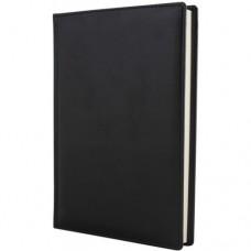 Ежедневник полудатированный Optima Caprice, А5, 384 л., искусственная кожа, черный