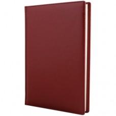 Ежедневник полудатированный Optima Caprice, А5, 384 л., искусственная кожа, бордовый