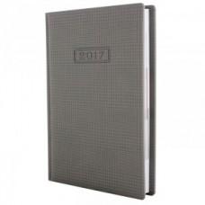 Ежедневник полудатированный Optima GLEN, А5, 384 л., искусственная кожа, светло-серый