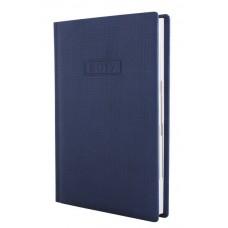 Ежедневник полудатированный Optima GLEN, А5, 384 л., искусственная кожа, темно-синий