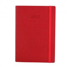 Ежедневник полудатированный Optima CROSS, А5, 384 л., искусственная кожа, красный