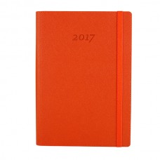 Ежедневник полудатированный Optima CROSS, А5, 384 л., искусственная кожа, помаранчевый