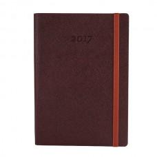 Ежедневник полудатированный Optima CROSS, А5, 384 л., искусственная кожа, шоколад