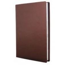 Ежедневник полудатированный Optima NEBRASKA, А5, 384 л., искусственная кожа, без поролона, коричневый металлик
