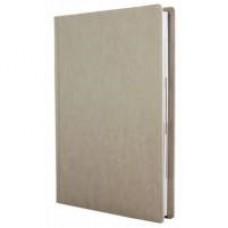 Ежедневник полудатированный Optima NEBRASKA, А5, 384 л., искусственная кожа, без поролона, белый металлик