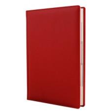 Ежедневник полудатированный Optima VINTAG, А5, 384 л., искусственная кожа, красный