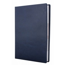 Ежедневник полудатированный Optima NEBRASKA, А5, 384 л., искусственная кожа, без поролона, синий металлик