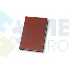Еженедельник недатированный Optima Nebraska, А4, 128 л., искуственная кожа, коричневый