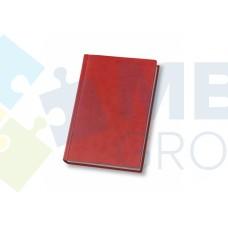 Еженедельник недатированный Optima Vivella, А4, 128 л., искуственная кожа, красный