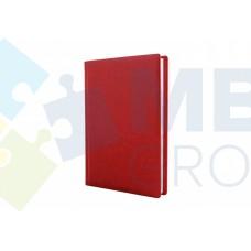 Еженедельник недатированный Optima Nebraska, А4, 128 л., искуственная кожа, красный