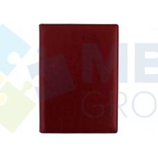 Еженедельник недатированный Optima Nebraska, А4, 128 л., искуственная кожа, бордовый