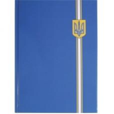 """Блокнот Optima """"Орнамент"""", А4, 96 л., синий герб"""