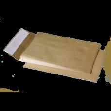 Конверт С4 (229х324мм), коричневый, СКЛ с расширением по узкой стороне