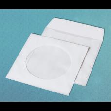 Конверт для CD (124х124мм), белый, НК с окном (термоупаковка)