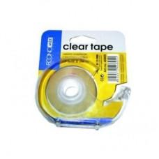Диспенсер для клейкой ленты с клейкой лентой 19мм х 33м Economix, оснащен металлическим лезвием