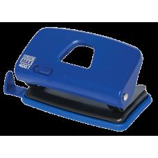 Дырокол до 10 л., Buromax, пластиковый корпус, с линейкой, синий