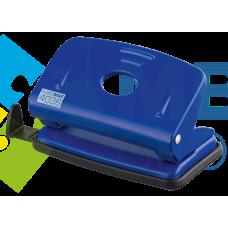 Дырокол до 10 л., Buromax, металлический корпус, с линейкой, синий