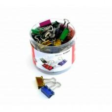 Биндеры для бумаги 15 мм Optima, цветные, в пластиковом тубусе, 60 шт.