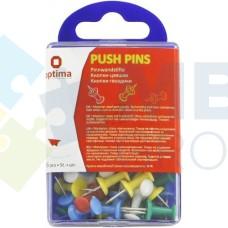 Кнопки-гвоздики Optima, в пластиковой коробке, 36 шт.