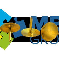 Кнопки металлические золотые Buromax, 100 шт.