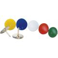 Кнопки металлические цветные Buromax, никелированные, 100 шт.