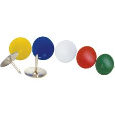 Кнопки металлические цветные Buromax, 100 шт.