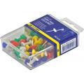 Кнопки-гвоздики цветные Buromax, пластиковый контейнер, 50 шт.