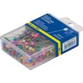 Шпильки (булавки) цветные Buromax, пластиковый контейнер, 34 мм, 200 шт.
