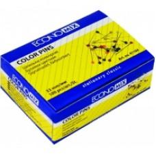 Шпильки цветные 33 мм Economix, 100 шт.
