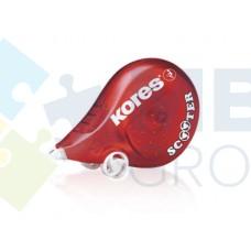 Корректор ленточный Kores Scooter, 4,2мм х 8м, красный