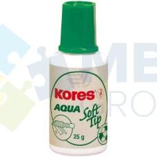 Корректирующая жидкость Kores AQUA SOFT TIP с универсальным аппликатором, 20 мл