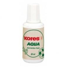 Корректирующая жидкость Kores AQUA с кисточкой, 20 мл