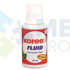 Корректирующая жидкость Kores FLUID с кисточкой, 20 мл
