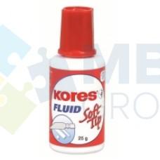 Корректирующая жидкость Kores FLUID SOFT TIP с универсальным аппликатором, 20 мл