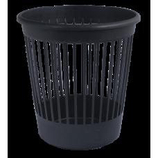 Корзина для бумаг Арника, 10л., круглая, пластиковая, черная