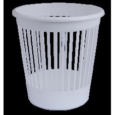 Корзина для бумаг Арника, 10л., круглая, пластиковая, белая