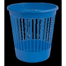 Корзина для бумаг Арника, 10л., круглая, пластиковая, синяя